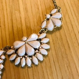 Jewelry - Delicate Pink and Gold Statement Necklace